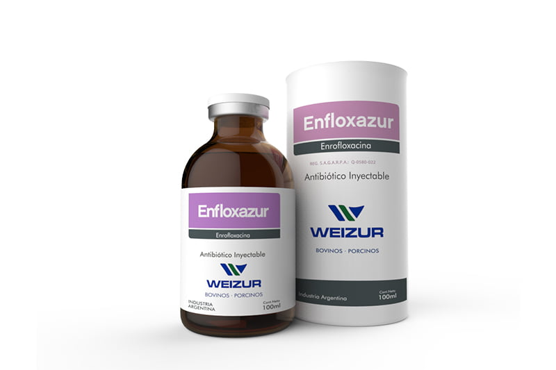 Antibiotico-inyectable- enfloxazur-enrofloxacina