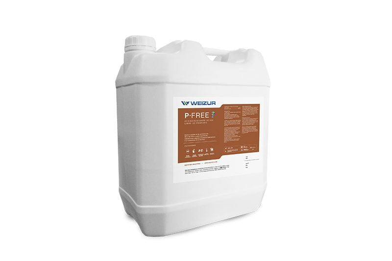 pfree-detergente-desincrustante-acido-concentrado-libredefósforo-higieneindustrial-weizur